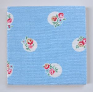 Ceramic Wall Tiles in Cath Kidston Floral Spot Blue 100mm 150mm